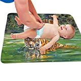 Zcfhike Baby Portable Diaper Changing Pad River Tigers Urinary Pad Baby Changing...