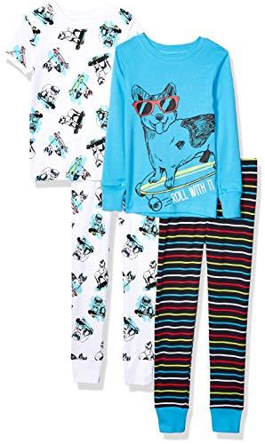 XS Space Bunny Spotted Zebra 4-Piece Snug-Fit Cotton Pajama Set