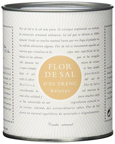 Gusto Mundial Flor de Sal d'Es Trenc Boletus Salz 150g | unbehandeltes, naturbelassenes Meersalz aus Mallorca | Mit köstlichen Steinpilzen