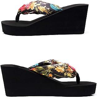 Les Sandales À Talons Hauts Et Les Pantoufles Antidérapantes for Femmes Portent des Tongs D'été (Color : Black, Size : 37)