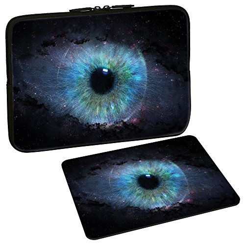 PEDEA Design Tablet PC Tasche 10,1 Zoll (25,6cm) mit Design Mauspad, Space Eye