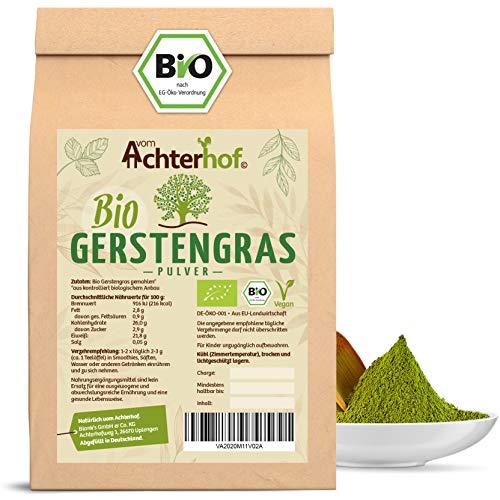 Gerstengras Pulver BIO (1kg) | Aus deutschem Anbau | Rohkostqualität | 100% Gerstengraspulver | Rückstandskontrolliert | vom-Achterhof