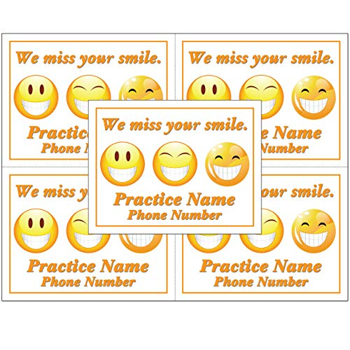 Laser Reminder Postcards for Dental. Personalized Front for Your Practice. 4 Cards Perforated for Tear-Off at 4.25
