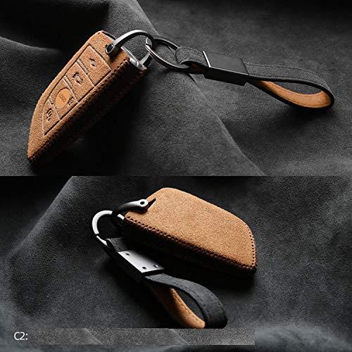YKANZS Gire la Cubierta de la Llave de la Caja de la Llave del Coche de Piel, para BMW 2 3 5 7 Series 6GT X1 X3 X5 X6 F45 F46 G20 G30 G32 G11 G12 F48 G01 F15 F85 F16 F86