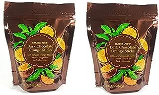 Trader Joe's Dark Chocolate Orange Sticks, 10 0Z (Pack of 2)