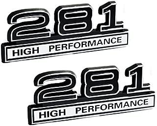 281 4.6 Liter High Performance Engine Emblems in Chrome & Black Trim - 4