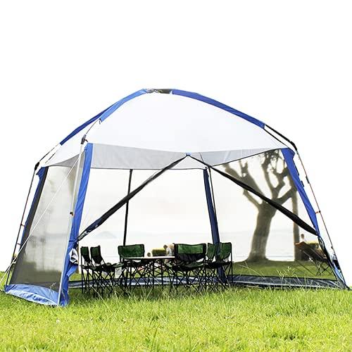 Outdoor Pavillon mit Moskitonetz 3,6x3,6 m, Gartenpavillon Poolzelt Partyzelt mit wasserdichtes Oberteil , Eventzelt Campingpavillon mit Netzseite für Garten, Pool Shelter Pavillon für 5-8 Personen
