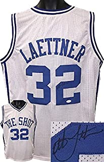 Christian Laettner Autographed Jersey - White Custom Stitched College Basketball The Shot XL black sig)- Witnessed Hologram - JSA Certified