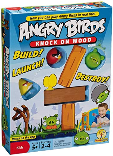 Fun N Joy Angry Birds Knock on Wood Build! Launch! Destroy! Game for Kids in Multi Colours ( Set of 1 )