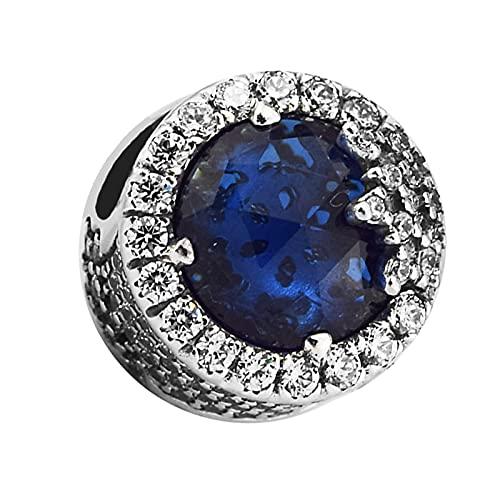 SOPMGJS Passt für Pandora Charms Armbänder Schillernde Schneeflocke Perlen mit Mitternachtsblau Sterling Silber Schmuck Das Tragen Macht Sie charmant