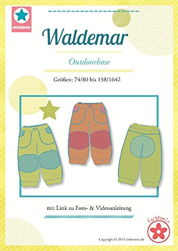Waldemar Farbenmix Schnittmuster (Papierschnittmuster für die Größen 74/80-158/164) Outdoorhose