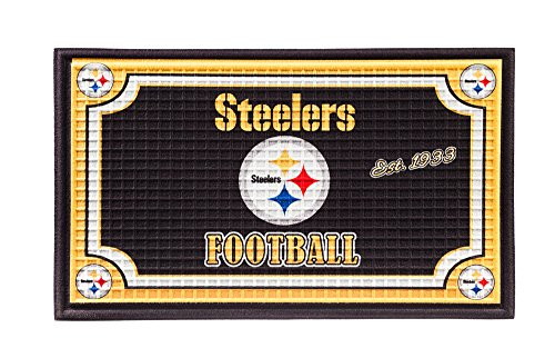 Team Sports America NFL Pittsburgh Steelers Embossed Outdoor-Safe Mat - 30