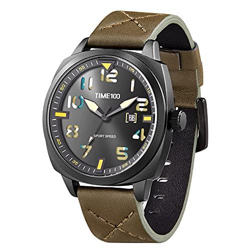 TIME100 Orologio sportivo digitale militare elettronico impermeabile luminoso giapponese orologio da polso per uomini donne verde