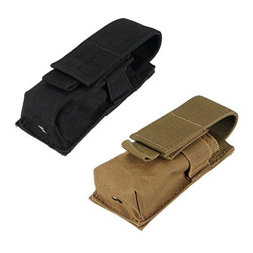 perfeclan 2 Piezas de Cinturón con Clip para Linterna, Funda para Teléfono con Antorcha LED de Táctica