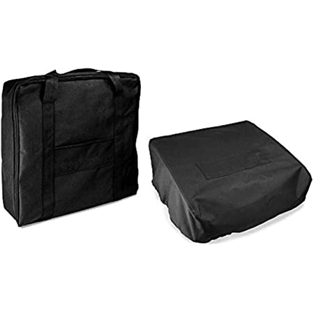 Outspark 600D Water Proof Canvas Accessories Grill Cover and Carry Bag for Blackstone 17 Inch Or Camp Chef Griddle Flat Top Grill Similar Size(Carry Bag Plus Grill Cover)
