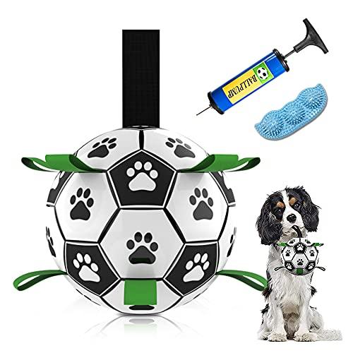 Anyingkai Hund Fußball,Hund Fußball Spielzeug,Hundeball,Langlebiges Hundespielzeug,Spielzeug Hund Ball,Interaktiver Ball,Umweltschutzmaterial Wiederverwendbar