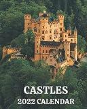 Castles Calendar 2022: 2022 Monthly Calendar Book with Pictures of European Castles