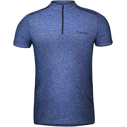 Cimalp T-Shirt Technique sans Coutures 1/2 Zip