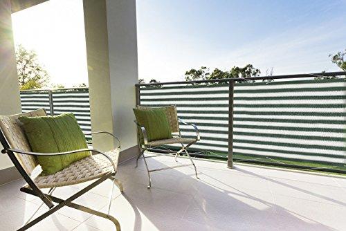 Floracord Balkonumrandung HDPE 0,90 x 5 m, grün/weiß/mehrfarbig