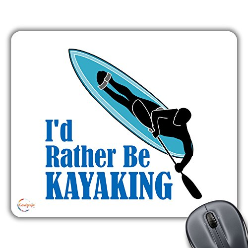 cp454I 'd rahter Be kayak regalo impreso PC portátil ordenador alfombrilla de ratón almohadilla