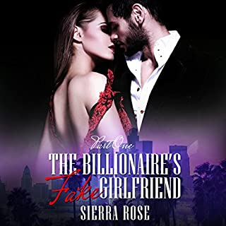 The Billionaire's Fake Girlfriend audiobook cover art