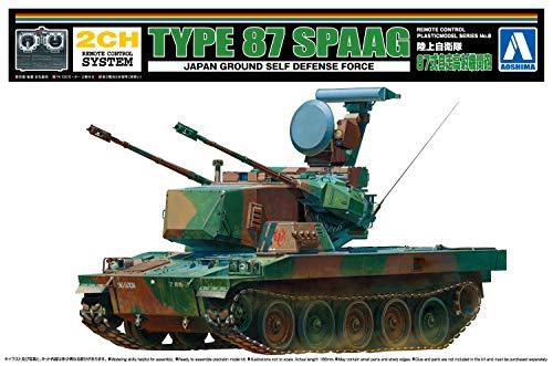 青島文化教材社 リモコンプラモデルシリーズ No.8 陸上自衛隊 87式自走高射砲 プラモデル