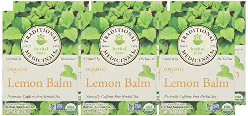 Traditional Medicinals Organic Lemon Balm Herbal Tea - 16 bags per pack -- 6 packs