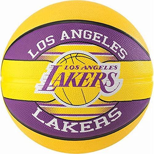 Spalding NBA Team L.A. Lakers 83-510Z Balón de Baloncesto, Multicolor, 7