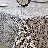 Manteles de Algodón y Lino Cuadros, Telas de Arte Nórdico, Mallas Pequeñas para Mesas 140x200cm 08