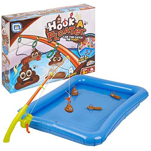 Grafix Hook a Floater Kinder Poo Fishing Badewanne Neuheit schwimmendes Poop Wasser Spiel, Mehrfarbig