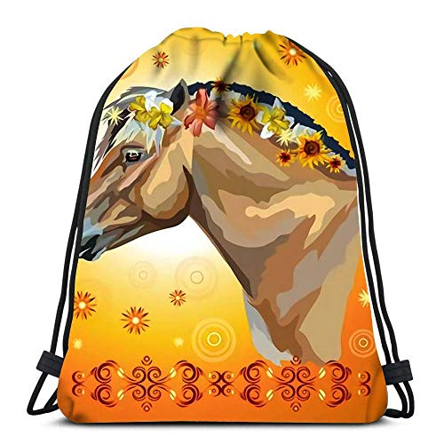 Yuanmeiju Teens Sack Drawstring,Traveling String Backpack,Unisex Kordelzugbeutel,Sports Kordelzug Rucksack,Ladybugs Cartoon Sport Storage Polyester Bag School Backpack