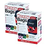 1 paquet de sacs pour aspirateur Henry NVM-1CH Pack of 20 blanc