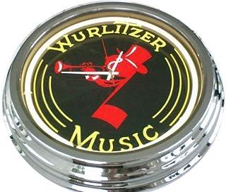 Neon Wurlitzer reloj de pared decorativo-reloj Leuchtuhr Estados Unidos 1524 cm s diseño Retro reloj Neonuhr