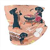 Pañuelo cuadrado con diseño de perros calientes y limonada, diseño de perro salchicha