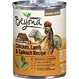 Purina Beyond Grain Free, Natural Pate Wet Dog Food, Grain Free Chicken, Lamb & Spinach Recipe - (12) 13 oz. Cans