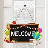 Back to School Blackboard Welcome Door Sign Teacher Appreciation Door Decorations Thank You Teachers First and Last Day of School Classroom Door Hanger