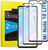 tomaxx 2X 6D Panzerglas für Xiaomi Mi Note 10 LITE Schutzfolie 9H Hartglas HD Glas [Anti-Kratz] Blasenfrei Bildschirmschutzfolie für Xiaomi Mi Note 10 LITE Smartphone