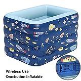 Home Style Collection Aufstellpool Pool Babypool Planschbecken Kinderpool Kinderplanschbecken mit aufblasbarem Boden für Kind-er Terrasse Balkon Garten/blue / 180X140X75CM