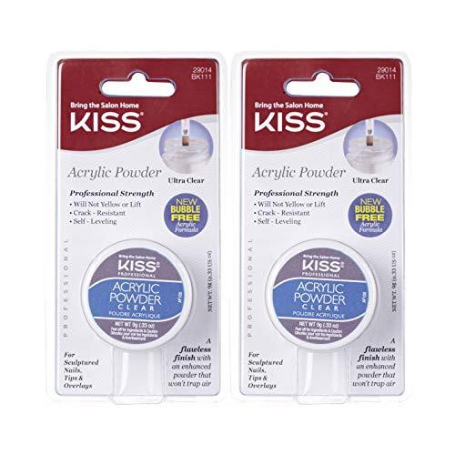 Kiss Acrylic Powder Clear 0.33 Ounce (2 PACK)