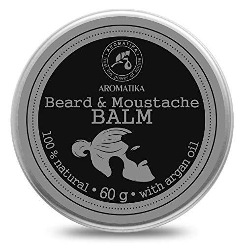 Baume à Barbe Naturel 60g avec Huiles Amande - Argan - Jojoba - Macadamia - Cacao & Huiles Essentielles Bergamote - Cyprès - Citronnelle - Baume Naturel pour Barbe & Moustache