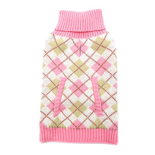 kyeese Dog Sweaters for Large Dogs Pink Pullover Knitwear Thicken with Leash Hole Pet Cold Weather...