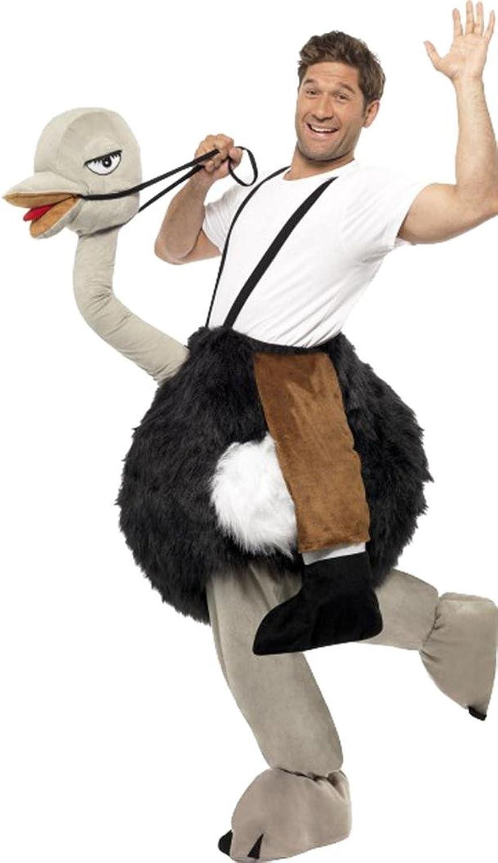 Smiffys Erwachsenen-Kostüm, Strauenstrau, mit hngenden Falschen Beinen