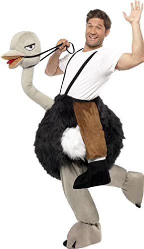 Smiffys Erwachsenen-Kostüm, Strau strau mit h enden Falschen Beinen