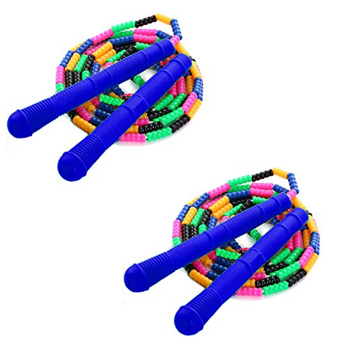 Rocutus 2 Pack 16 FT Long Jump Rope,Double Dutch Jump Ropes Long Rope Fitness Workout Tangle for Game/Skipping Rope Multiplayer Group