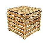 Compostador de madera con tapa, 510 L, contenedor de compostaje con paredes abatibles, de madera flameada, para jardín, compostador de madera orgánico, compostador, compostador de jardín