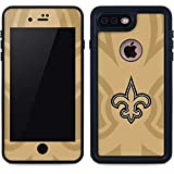 Skinit Waterproof Phone Case Compatible with iPhone 8 Plus - Officially Licensed NFL New Orleans Saints Double Vision Design
