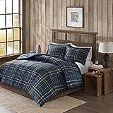 Flint CozySpun Down Alternative Comforter Mini Set Navy King