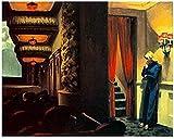 AS65ST12 Edward Hopper cartel imprime, Pintura Mejor lona de arte impresiones del cartel, moderna de la pintura cuadro de la pared, for sala de estar Decoración 50x60cm sin el capítulo Posters Prints