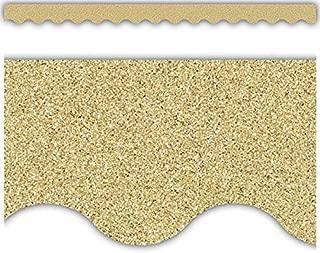 Gold Glitz Scalloped Border Trim