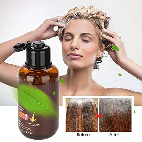 Haarwachstum Ingwer Shampoo, Natur Ingwer Kräuter Serum stärken die Haarwurzeln, wachsen länger gegen Haarausfall Haarwachstum Essenz, Haarpflege Verdicken und Stärken das Haar für Frauen Männer
